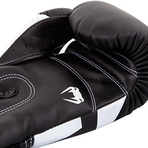 venum elite guantes de boxeo, negro / blanco, 10 oz