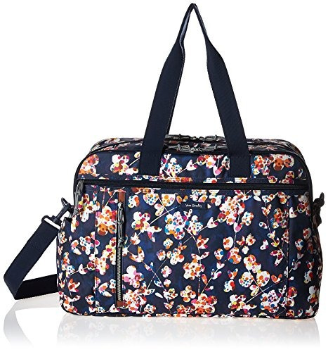 vera bradley lighten up weekender bolsa de viaje, poliéster,