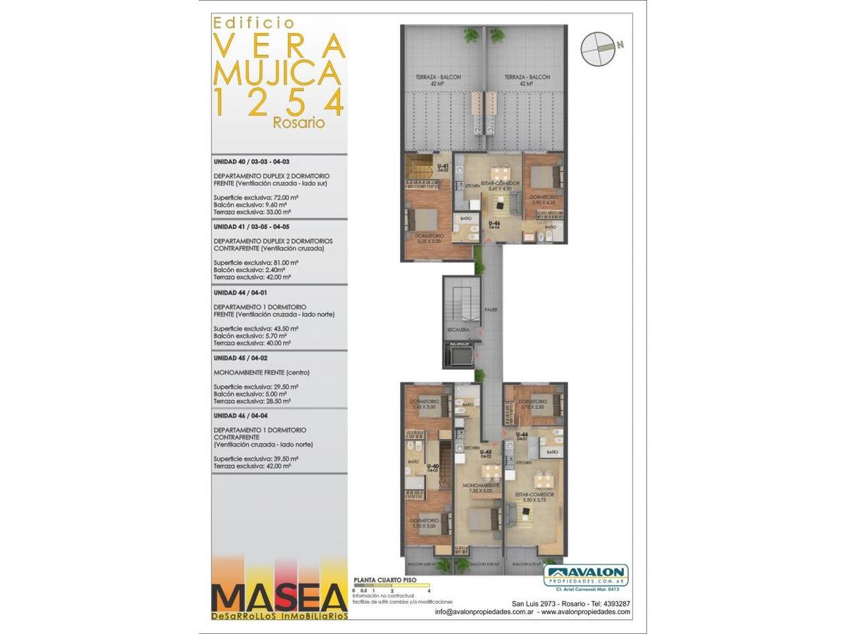 vera mujica 1200, monoambiente con balcon en construcción!