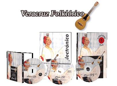 veracruz folklórico 1 vol + 1 cd + 1 dvd