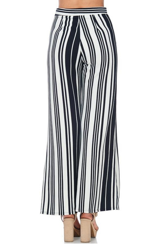 verano 2018 - pantalon palazzo rayas