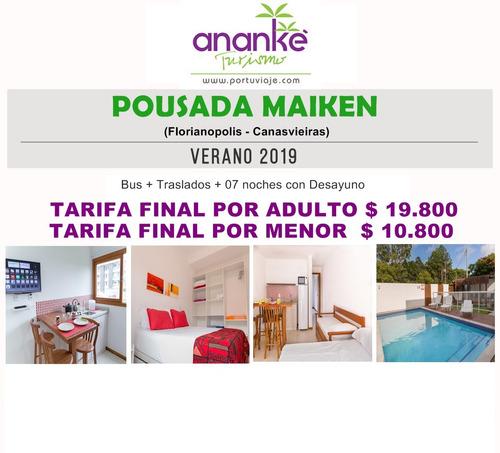 verano en familia - florianopolis 2019 en bus