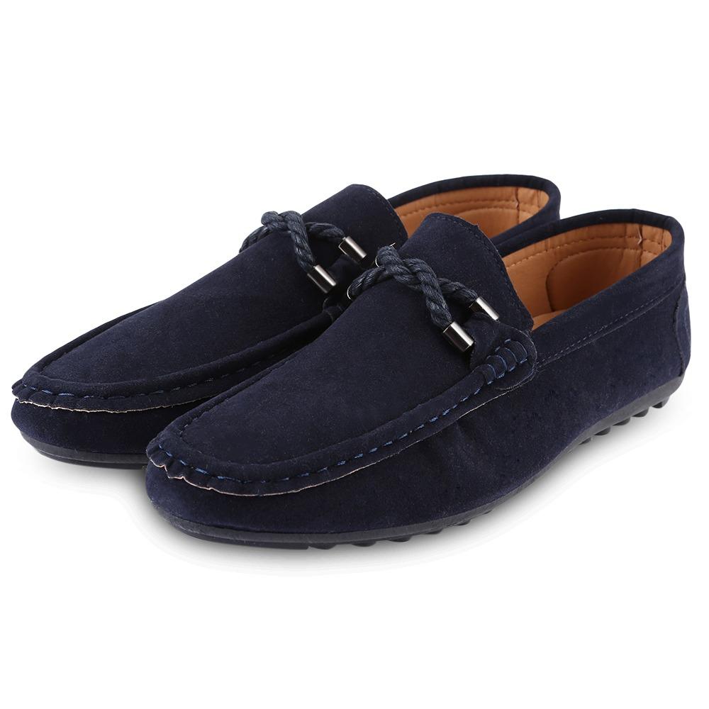 Verano Gamuza Mocasines Cuero Hombres Conducir Zapatos Moda bgyY76f
