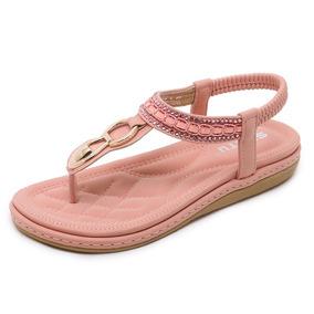 Mujeres Rhinestones Sandalias Pla Verano Ocio Flores Zapatos OPiukXZ