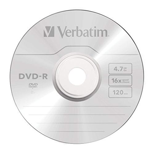 verbatim dvd-r 4.7gb 16x azo disco de medios