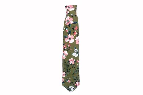 verde floral corbata