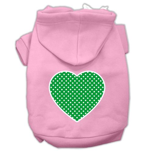 verde swiss punto corazón pantalla impresión para mascotas