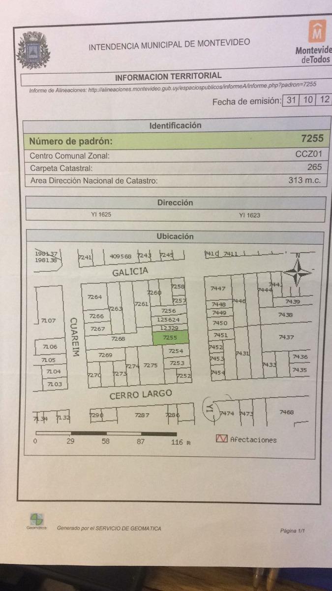 verde vende terreno 317 m2, fte 10.8, fos 100%, altura 16.5