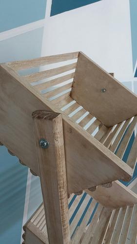 verdulero huacal guacal de madera 3 estantes rack guacal