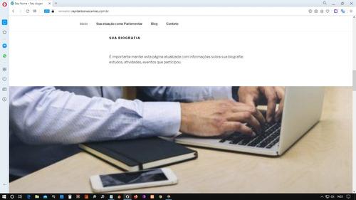 vereador ou candidato: tenha seu site personalizado
