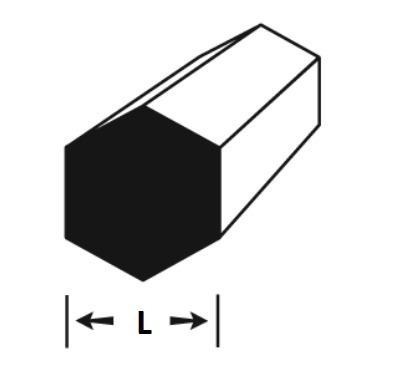 vergalhao sextavado aluminio 3/4 (19,05mm) c/ 50cm