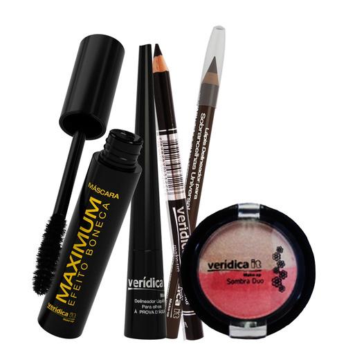 verídica it make up kit cosmético para olhos (5 produtos)