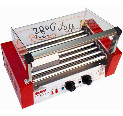 verly máquina comercial de hot dogs 9 rodillos 1500 w 110v