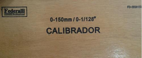 vernier de aluminio calibrador profesional 150 mm / 1/128