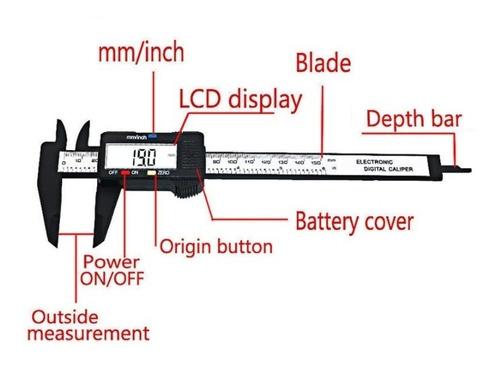 vernier digital pie de rey calibrador 150mm 6in precisión