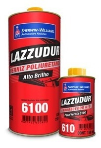 verniz bicomponente lazzuril 6100 900ml + endurecedor 610