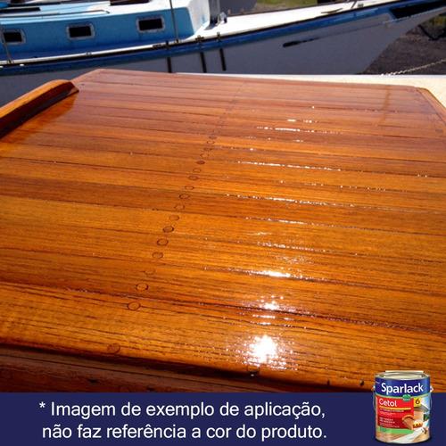 verniz sparlack cetol brilhante à base d'água - imbuia 3,6l