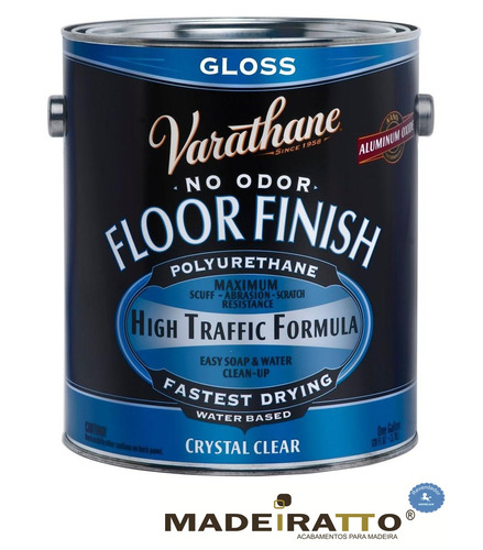 verniz varathane floor finish - brilho - 3,6 l