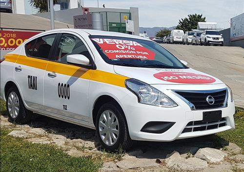versa drive 2019 mt taxi regional mensualidad baja estrena
