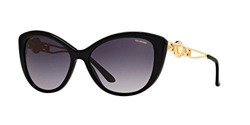 997de2374c Versace De Sol Acetato Negro Gafas Mujer Gris Para ve 1FR571qn