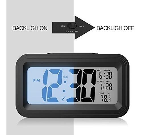 [versión de actualización] reloj despertador con batería, ga