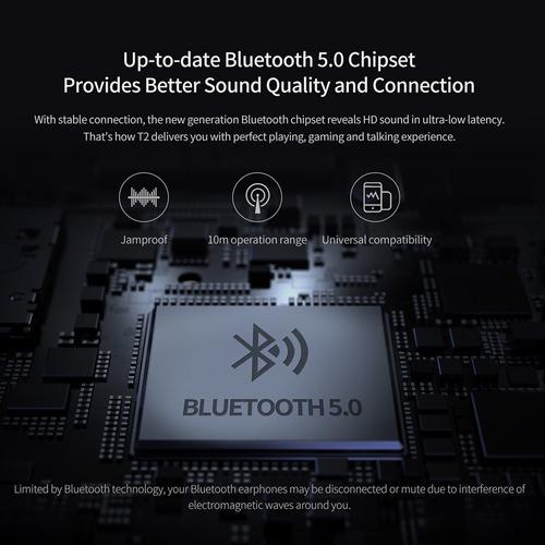 versión global xiaomi qcy t2 tws bt auriculares inalámbricos