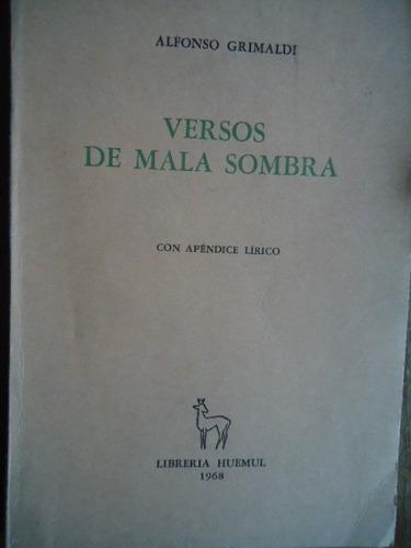versos de mala sombra apendice lirico alfonso grimaldi firm