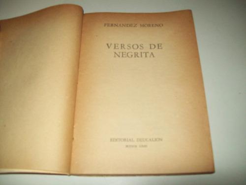 versos de negrita fernández moreno prólogo borges calou