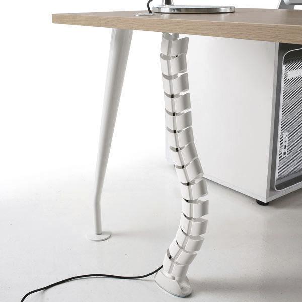 Vertebra Pasacable Para Escritorio Mesa Oficina Tapa Cable