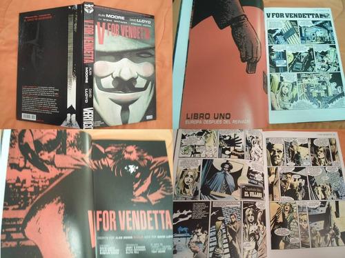 vertigo comics v for vendetta pasta blanda latino