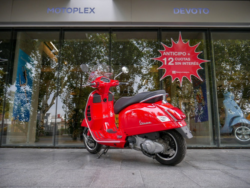 vespa 300 gts super roja abs/ asr 0km motoplex devoto