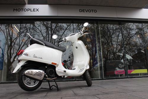 vespa vxl 150 0km blanca - motoplex devoto