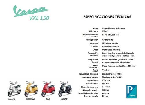 vespa vxl 150 scooter motoneta 0km nuevo retro vintage 999