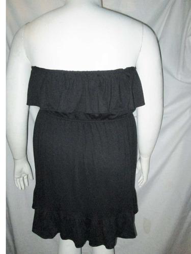 vestdo negro modelo strapless  en talla 3x  extragrande