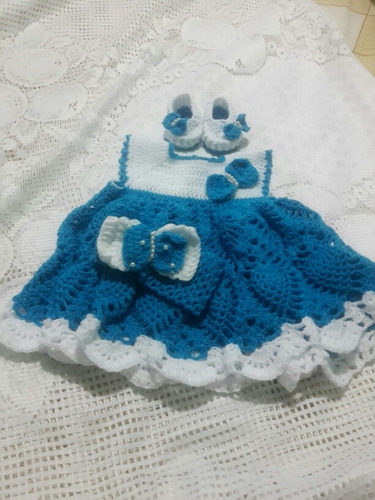 vestiditos tejidos para bebitas