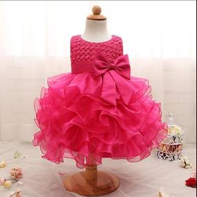6c2496cec50c10 Vestido 1 Ano Bebê Festa Perolas Casamento Luxo Aniversário
