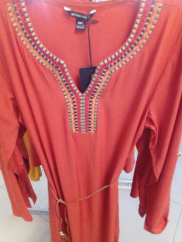vestido 10586 túnica bordado moda nacional boho