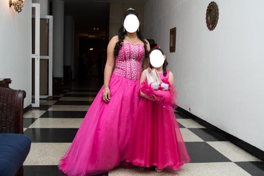 Vestido 15 Años + Cojín Para Zapatos + Tiara - Bs. 22.000,00 en ...