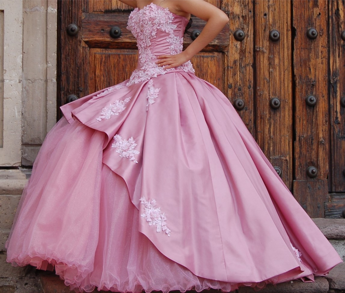 Vestido 15 Años Color Palo De Rosa 699900