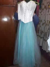 Vestido De 15 Anos Color Verde Agua Largos Strapless Vestidos De