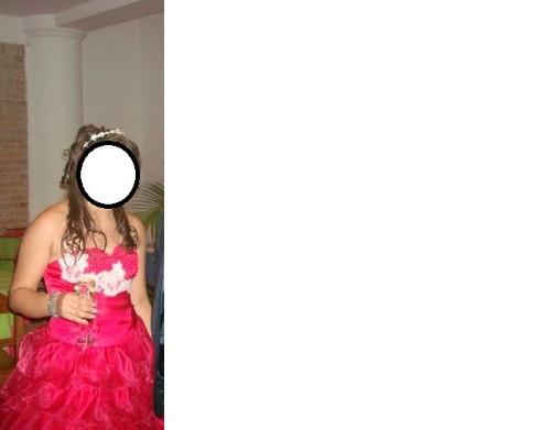 vestido 15 años fucsia una sola postura
