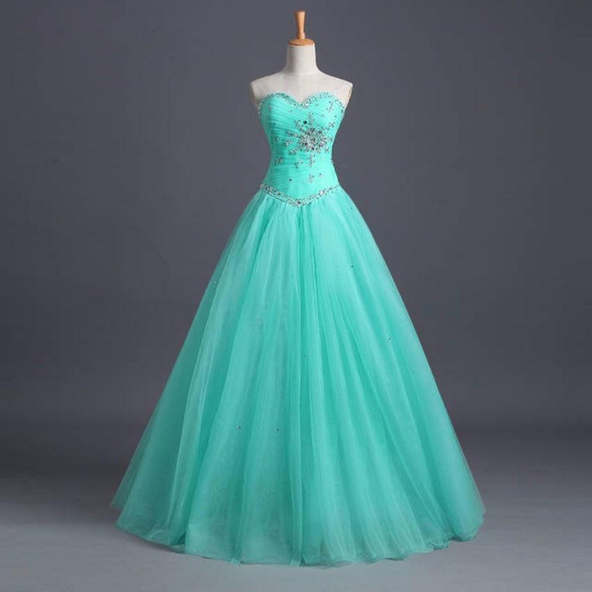 Imagenes de vestidos de 15 verde agua