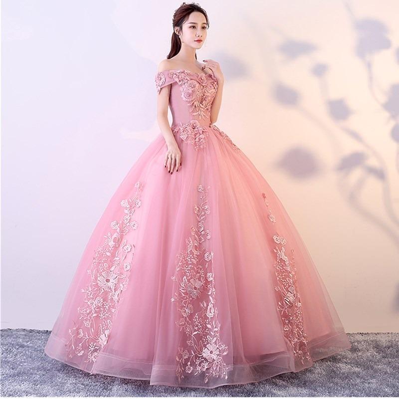 Vestido 15 Años Xv Años Rosa Aplicaciones