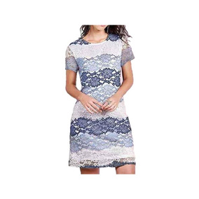 86321f1a1 Vestido 15168 Encaje Azul Blanco Fiesta Moda Mexicana