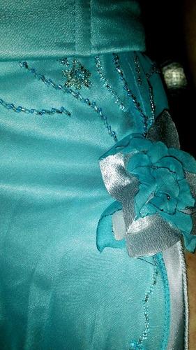 vestido 2 piezas, recepción -15 años-