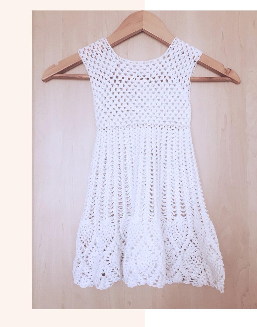 aad82beda Vestido A Crochet - Niña 2 Años - S/ 45,00 en Mercado Libre