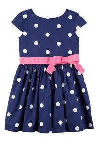 ad1b2a27f Vestido A Lunares Elegante De Niñas Talle 4-5 Años Carters