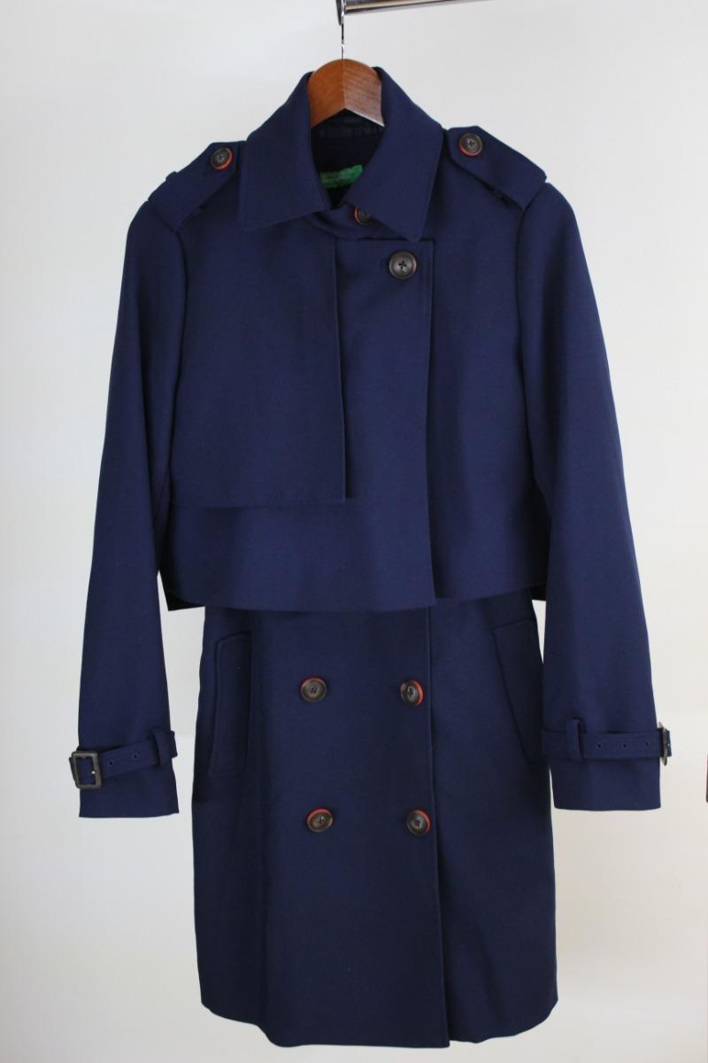 a30765285bb vestido abrigo trench coat benetton 2 pzas talla  chica. Cargando zoom.
