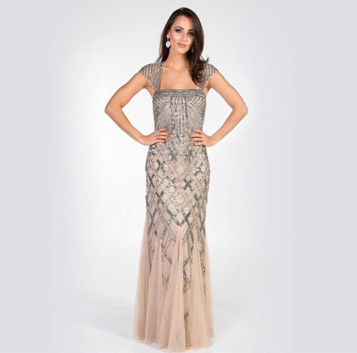 d6563886f Vestido Adrianna Papell - R$ 1.000,00 em Mercado Livre