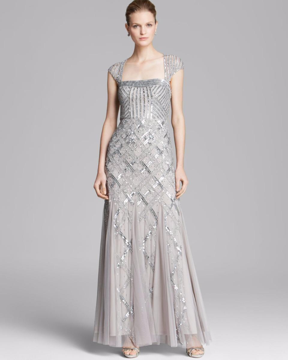 1c62560eb vestido adrianna papell modelo platinum talla 8 noche de rio. Cargando zoom.